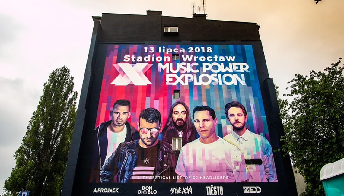 Gigantyczny mural Music Power Explosion w centrum Wrocławia!