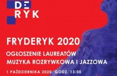 Nagrody Fryderyk 2020 – ogłoszenie laureatów w kategoriach muzyki rozrywkowej i jazzowej