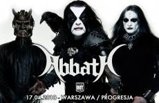Abbath wystąpi w kwietniu w Warszawie