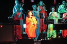Björk w jednej firmie z lemurami