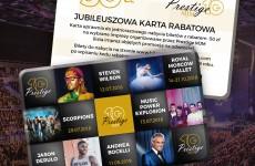 Specjalne jubileuszowe rabaty na koncerty Prestige MJM!