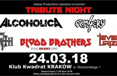 Tribute Night: Blood Brothers, Alcoholica, 4 Szmery, Event Urizen, Death Revival