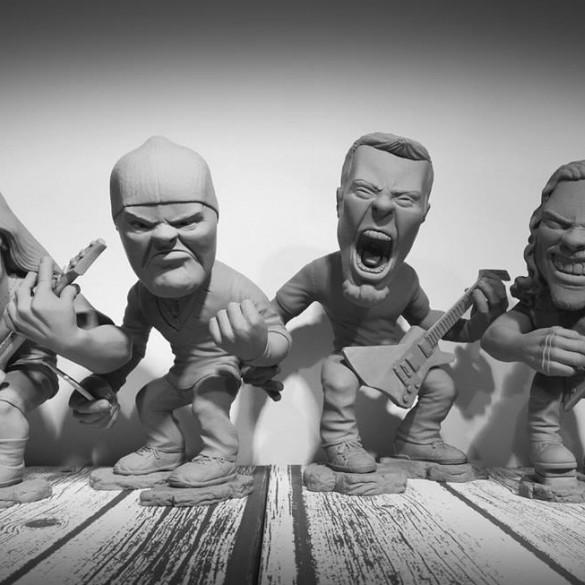 """Łukasz Serwa: """"James Hetfield był na tyle zachwycony figurkami, że poprosił abym wysłał je do ich studia w Kalifornii"""""""